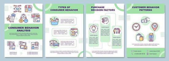 Consumer behavior analysis brochure template vector