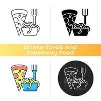 Takeaway italian food icon vector
