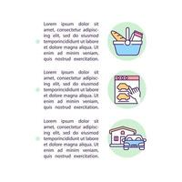 Types of consumer behavior concept line icons with text vector