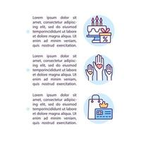 Brand loyalty status concept line icons with text vector