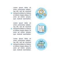 Archivar documentos importantes iconos de línea de concepto con texto vector