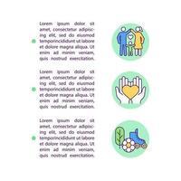 iconos de línea de concepto de vida cumplida con texto vector