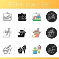 Pickup and delivery option icons set vector