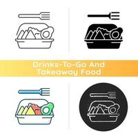 Family style meals takeout icon vector