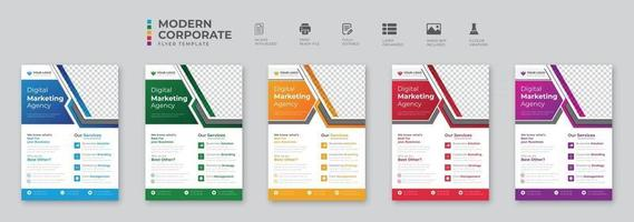 Corporate business multipurpose flyer design and brochure cover page template vector