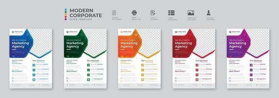 diseño de volante de agencia de marketing digital de negocios corporativos vector