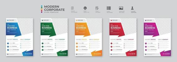 Creative corporate and business flyer brochure template design vector