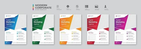 Corporate Business flyer template vector design Flyer Template Geometric shape used for business poster layout IT Company flyer corporate banners and leaflets Graphic design layout with triangle