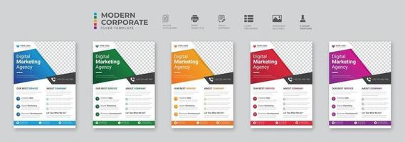 Creative Corporate and Business Conference Flyer Brochure Template Design abstract business flyer vector template design Brochure design cover annual report poster flyer