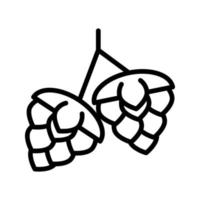 hop seeds line style icon vector