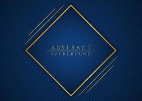 Geometric square shape luxury gold metallic frame background vector
