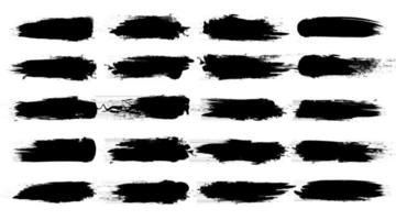 Brush stroke collection vector