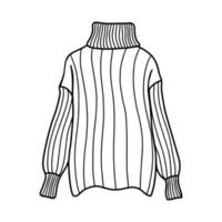 Knitted sweater with a high neck. Vector illustration