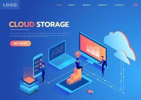 Cloud Storage Center vector