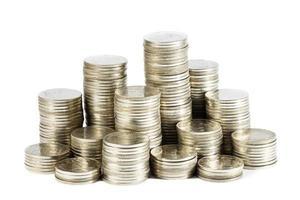 grupo de monedas tailandesas foto