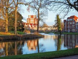 View over a canal in Leiden Netherlands photo