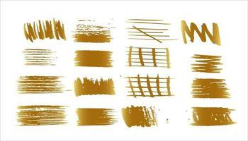 gold grunge brush vector eps