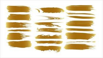golden grunge brush vector