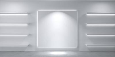 trastero con estantes blanco foto