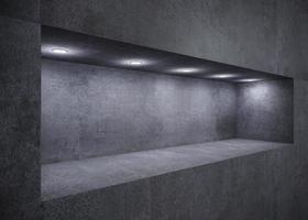 Decorative niche showcase with lights photo