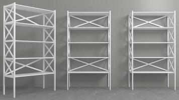 Rack with shelves showcase or wardrobe photo