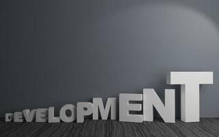 Word development in room development in room photo