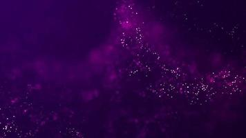 Shining Beautiful pink energy particles abstract background animation video