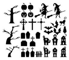 feliz halloween paquete conjunto de iconos vector