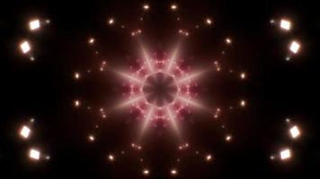 lazo de luz cálida fractal abstracto 4k 01 video