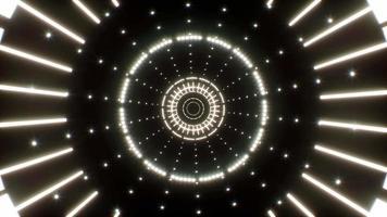 fundo de túnel de luz brilhante 4k video
