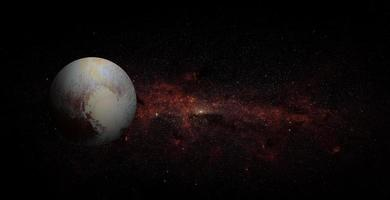 Pluto on space background, elements of this image furnished by NASA photo