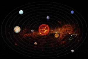 Solar system, elements of this image furnished by NASA photo