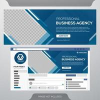 Social media over business template vector