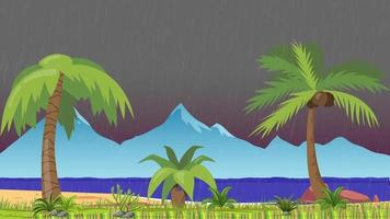 Rainy Evening In The Tropical Island video