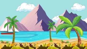 Boat Is Near The Beach In Summer Season video