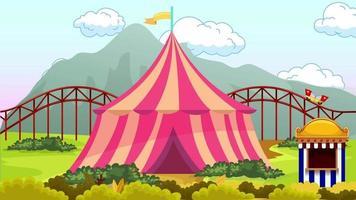 train et cirque dans le parc d & # 39; attractions hors de la ville video