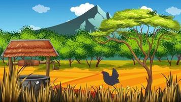 el pollo y los bebés viven en la granja video