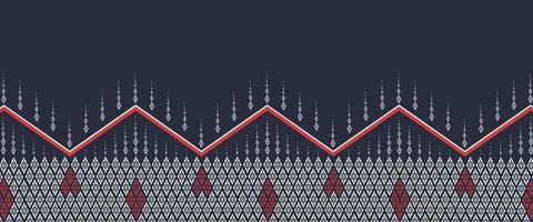 Diseño de patrón étnico geométrico para ilustración de vector de fondo o papel tapiz