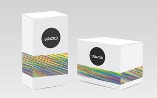 White box packaging mockup box vector illustration