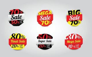 Sale 6 sets Template Banne Vector illustration