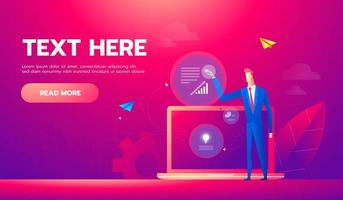 Business analysis concept banner. Can use for web, infographics, business images. vector