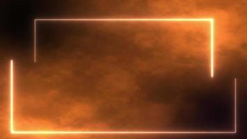 brauner Raumhintergrund mit Neonrand video