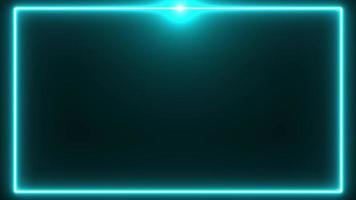 bordure néon bleue avec flare sur le fond supérieur video