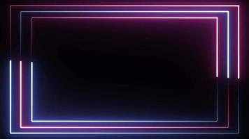 fond de bordure triple bleu néon et rouge video