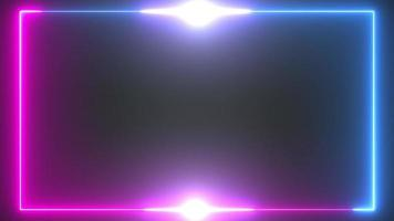 fond de bordure néon rouge et bleu lueur video