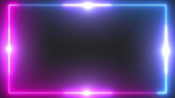 resplandor de fondo de borde de neón rojo y azul con destellos video