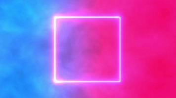fond d'espace rose et bleu avec bordure néon video