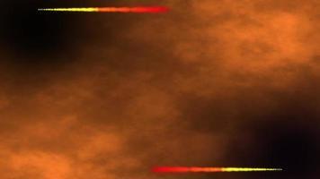 fond d & # 39; espace brun avec bordure de ligne de particules video
