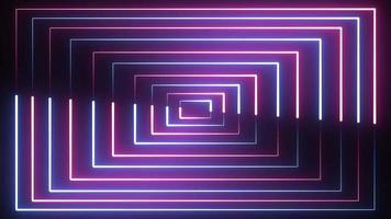 fond de boucle de bordures néon video