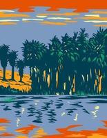 La reserva del oasis de las mil palmas también se conoce como la reserva del valle de coachella ubicada en california wpa poster art vector